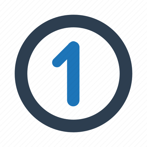 Count, number, one, 1 icon - Download on Iconfinder