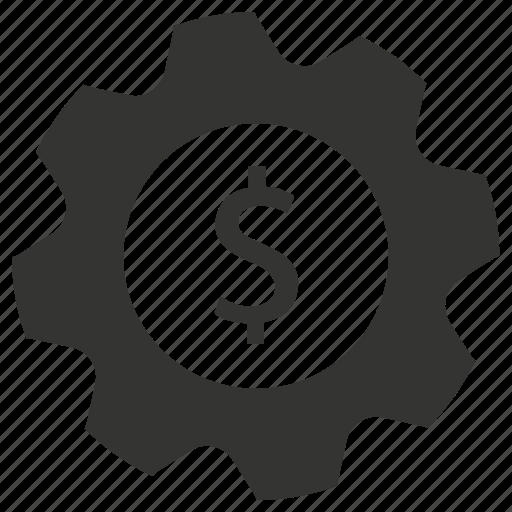 gear, management, money, setting icon