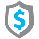 finance, protection, security, shield icon