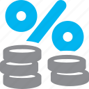coins, discount, finance, money icon