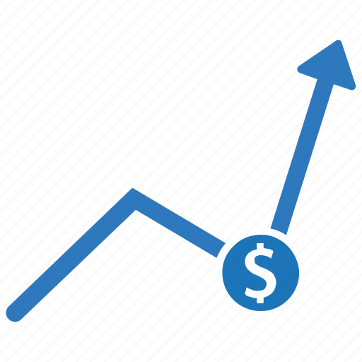 financial, growth, money growth, profit, report, trending icon