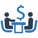 discussion, finance, financial discussion, financial meeting, financial team icon