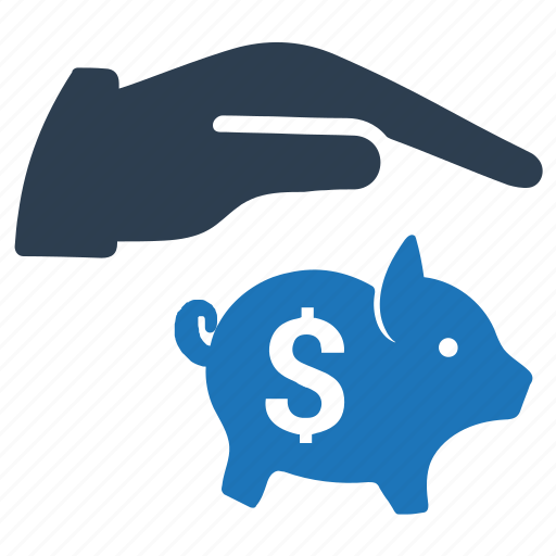 bank, money, piggy bank, savings protection icon