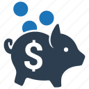 bank, coin, deposit, money, piggy bank, piggybank, savings icon