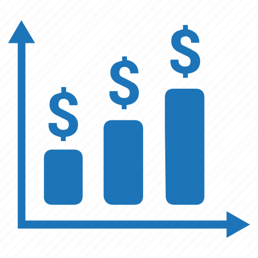 bar graph, business, financial analysis, financial report, growth icon