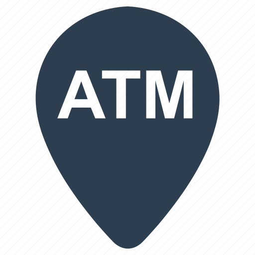 atm, atm location, bank, location, map, pin icon