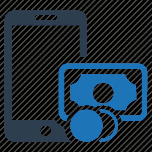 cash, mobile, mobile money, money, online, payment, transaction icon