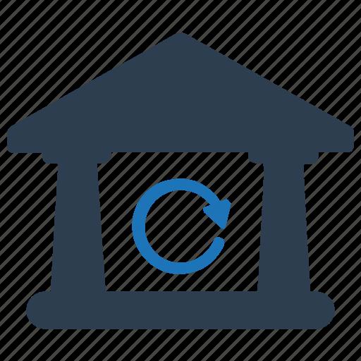 bank, bank return, inter bank transaction, local transactions, revisit, within bank icon