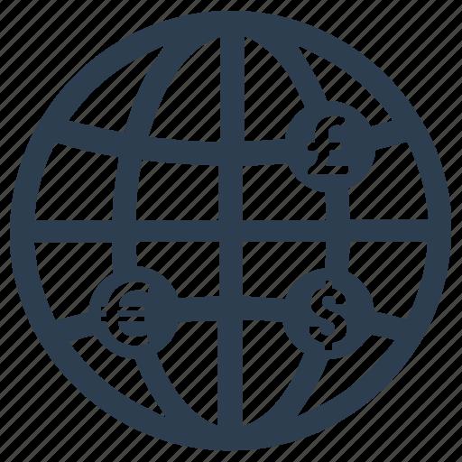 business, collaboration, economy, global, global finance, international, transaction icon