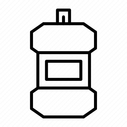 dental, healthcare, mouthwash, personal care icon