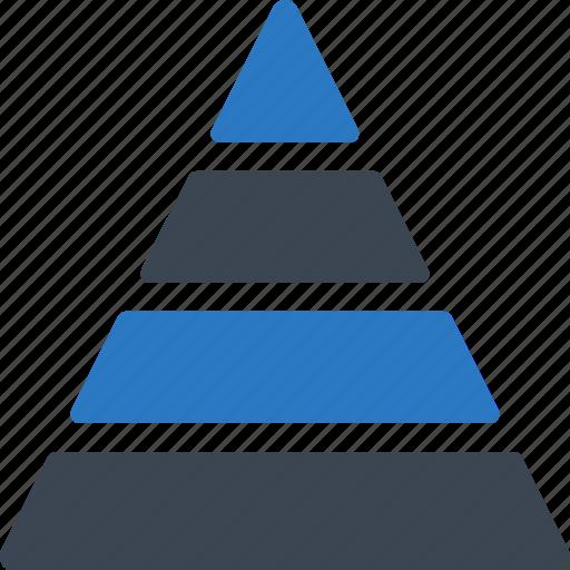 personal finance, planning, pyramid, retirement icon