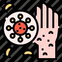 dirty, hand, hands, hygiene, scruffy, wash icon