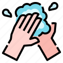 clean, cleaning, hand, healthcare, hygiene, hygienic, wash icon