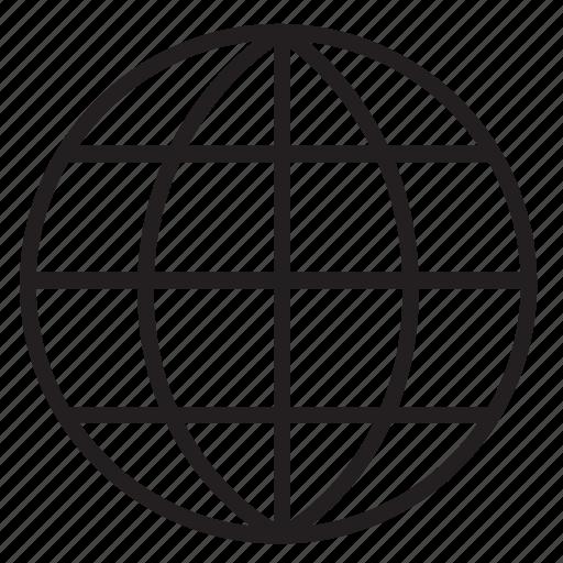 globe, internet, network, web, website icon