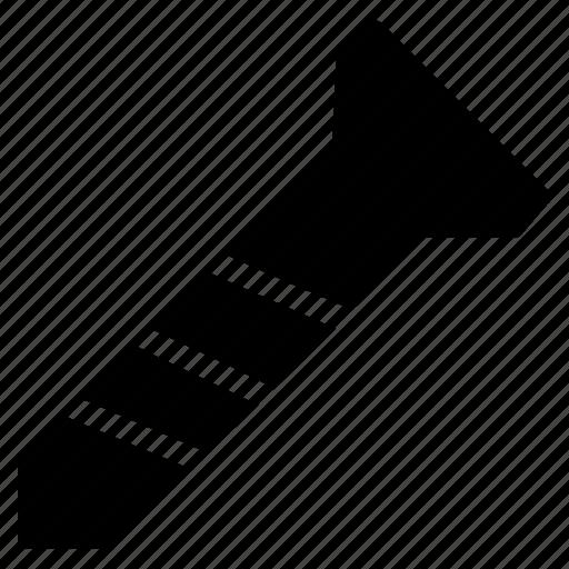 fastener, nail, nut, screw, tool icon