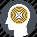 game, head, human, maze, mind, thinking, training icon