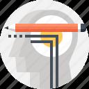 education, head, human, mind, people, teaching, thinking icon