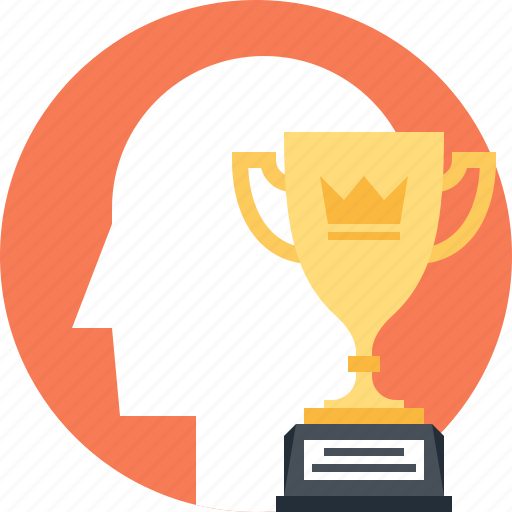 head, human, leadership, mind, success, thinking, trophy icon