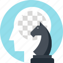 chess, game, head, human, mind, tactics, thinking icon