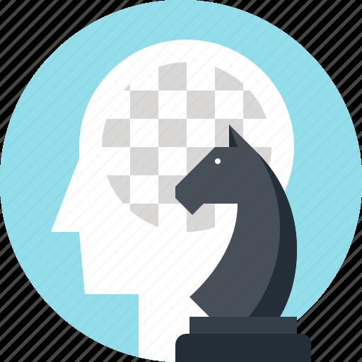chess, game, head, human, mind, tactics, thinking icon