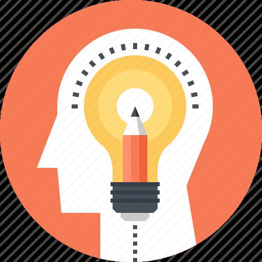creativity, head, human, idea, imagination, mind, thinking icon