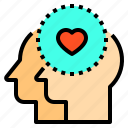 brain, couple, head, human, love, mind, thinking icon