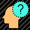 brain, head, human, mind, question, thinking