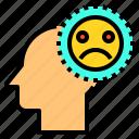brain, head, human, mind, sad, thinking
