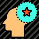 brain, head, human, mind, star, thinking