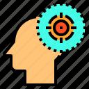 brain, goal, head, human, mind, target, thinking