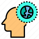 brain, head, human, mind, thinking, world