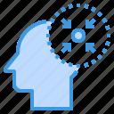brain, emotions, head, human, mind, target, thinking
