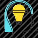 avatar, creativity, female, idea, woman