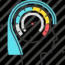avatar, female, learning speed, speed, speedometer, woman icon