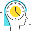 avatar, clock, dead line, female, time, woman icon