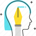 avatar, female, pen, woman, write