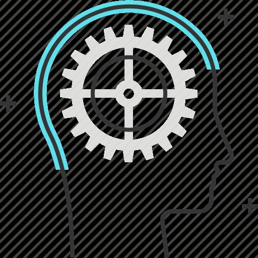 avatar, cog, gear, male, man, management icon