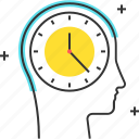 avatar, clock, dead line, male, man, time icon