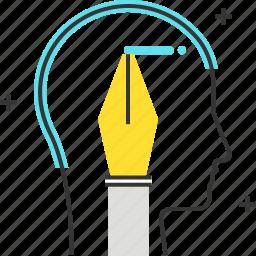 avatar, male, man, pen, write icon