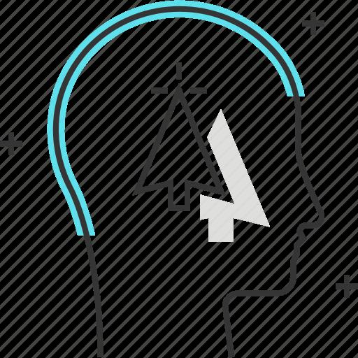arrow, avatar, click, computer, cursor, male, man icon