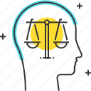 law, male, man, management, principles, scale icon