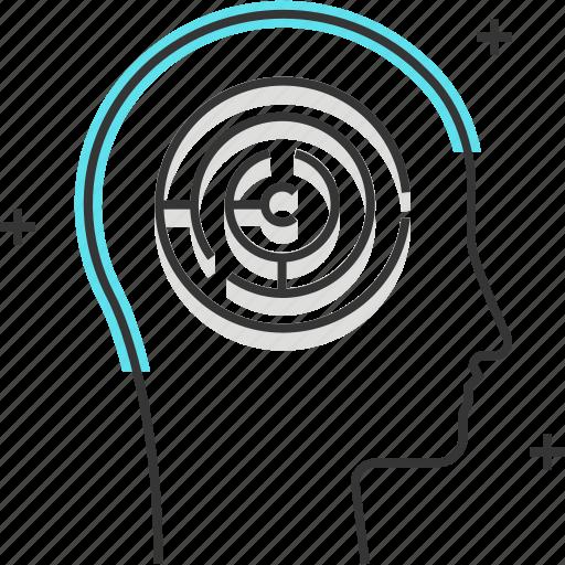 avatar, development, male, man, maze, problem solving icon