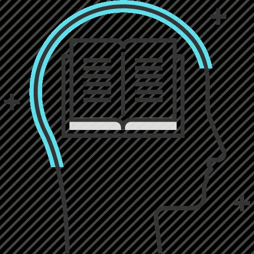 avatar, book, learn, male, man, read, school icon
