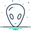 alien, foreigner, gringo, stranger, unknown icon