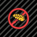 no, pests, flea icon