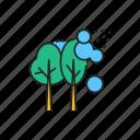 pesticide, spraying, trees icon