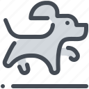 animal, dog, jump, pet, training icon
