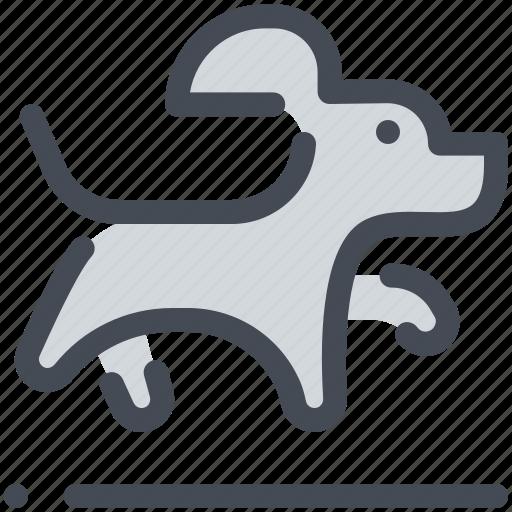 animal, dog, jump, pet, training icon