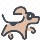 animal, dog, pet, run, training icon