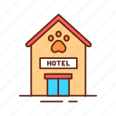 animal, building, domestic, hotel, pet, service